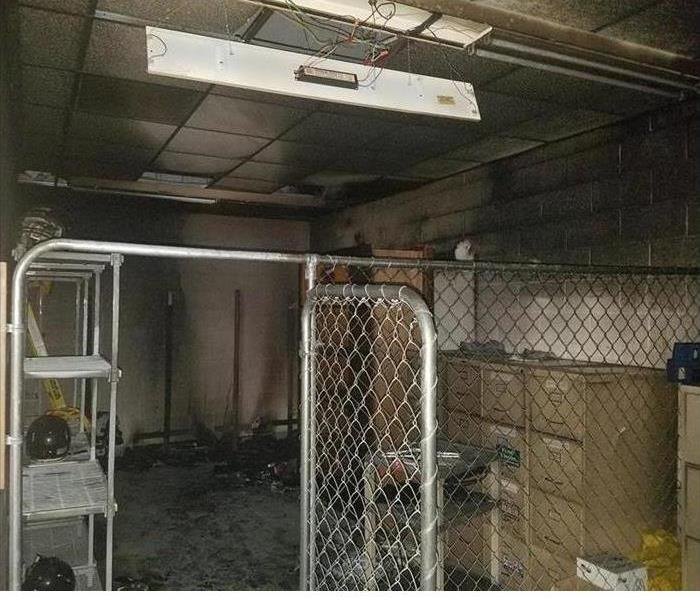 Fire Damaged Locker Room Pekin Before