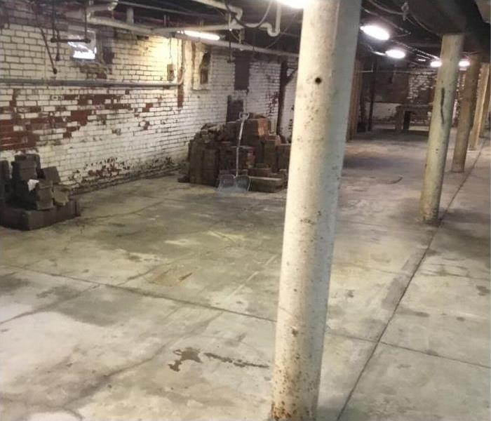 Basement at the end of job, completely cleaned out