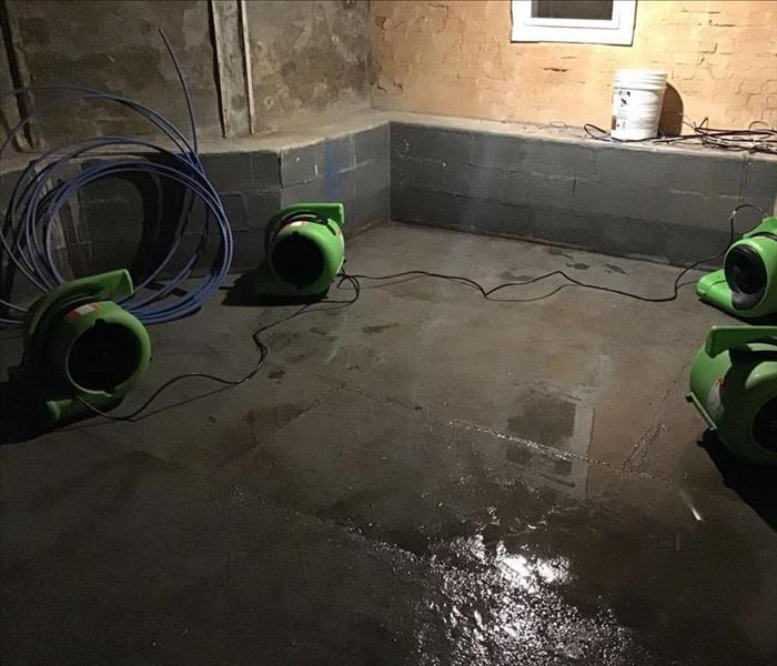 Basement after the water has been removed.