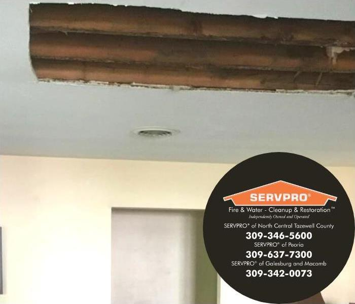 Hole in ceiling to aid with the drying process