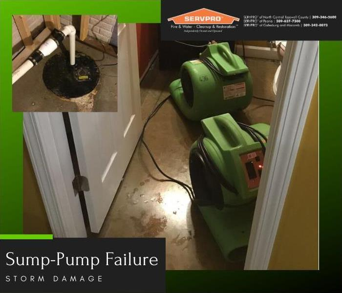 The cleaning stages of a job after sup-pump failure.