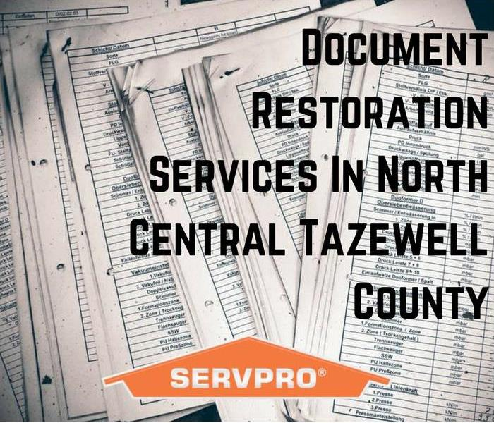 Water Damage Document Restoration Services In North Central Tazewell County