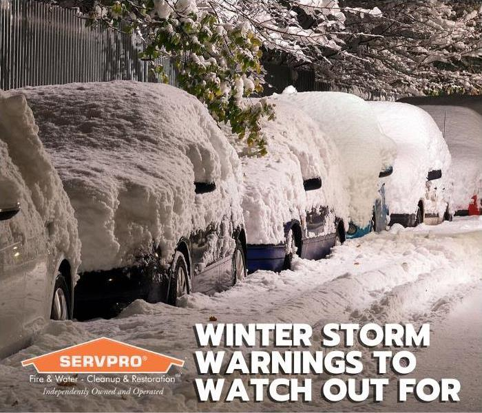 Title card with a line of cars parked on the street. Everything is covered in snow.